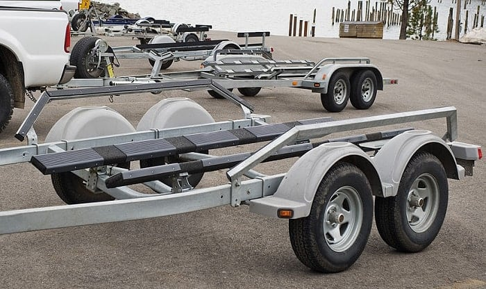 best wood for boat trailer bunks