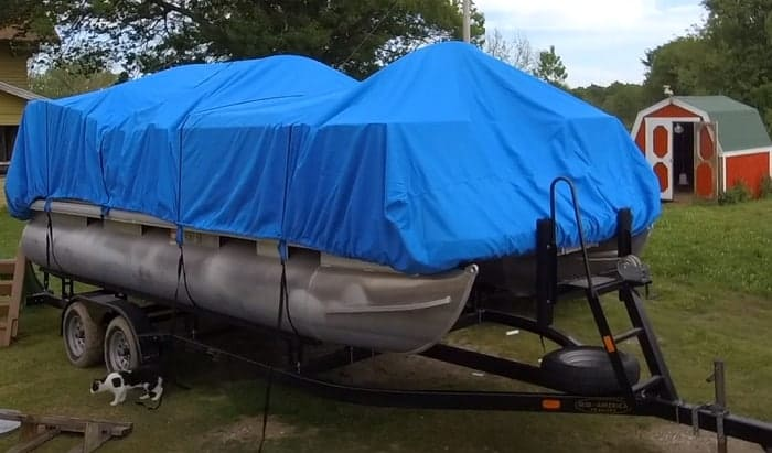 homemade-pontoon-boat-cover-support-system